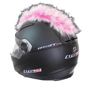Číro na helmu růžovo-bílé