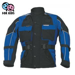 Dětská bunda na motorku Roleff černo-modrá