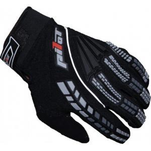 MX rukavice na motorku Pilot černé