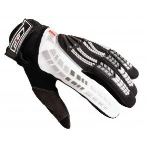 MX rukavice na motorku Pilot černo/bílé