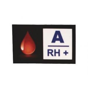 Nálepka s krevní skupinou A RH+