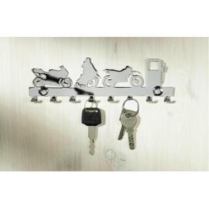 Věšák na klíče chromovaný - 8 háčků