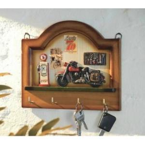 Věšák na klíče dřevěný - 4 háčky