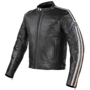 Bunda na motorku Tschul 640 černo-béžová