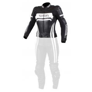 Dámská bunda na motorku RSA Virus černo-bílá výprodej