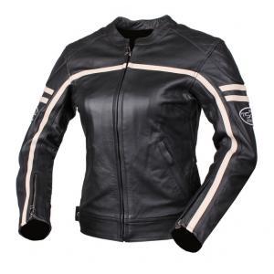 Dámská bunda na motorku Tschul 635 černo-béžová
