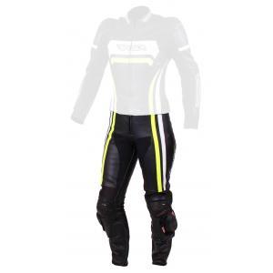 Dámské kalhoty na motorku RSA Virus černo-bílo-fluo žluté