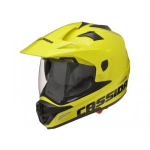 Enduro přilba na motorku Cassida Tour fluo žlutá