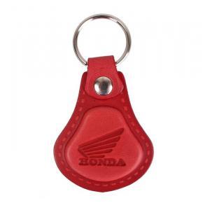 Kožený přívěsek na klíče Honda červený