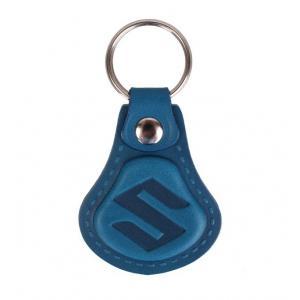 Kožený přívěsek na klíče Suzuki modrý