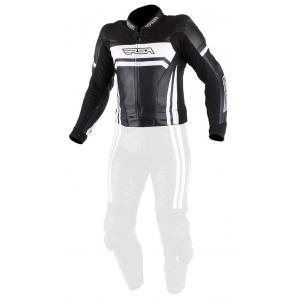 Pánská bunda na motorku RSA Virus černo-bílá