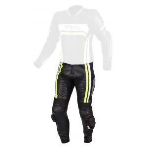 Pánské kalhoty na motorku RSA Virus černo-bílo-fluo žluté výprodej