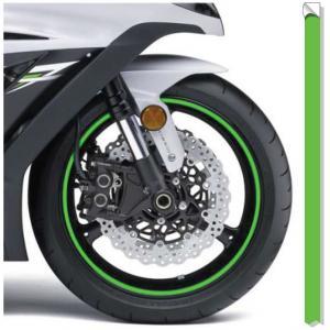Reflexní páska na ráfky Print fluo zelená