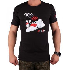 Triko s motivem Motozem Ride your life černé