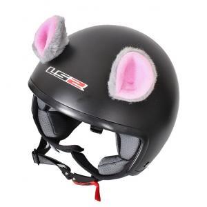 Uši na helmu Myška růžová
