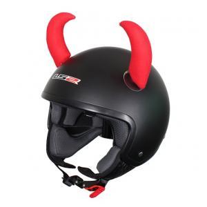 Uši na helmu Růžky červené velké