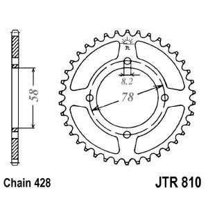 Řetězová rozeta JT JTR 810-41 41 zubů, 428