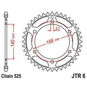 Řetězová rozeta JT JTR 6-42 42 zubů, 525