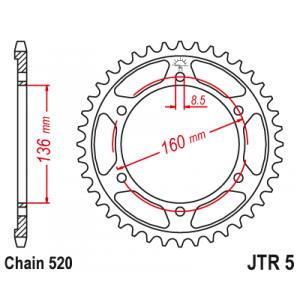 Řetězová rozeta JT JTR 5-47 47 zubů, 520