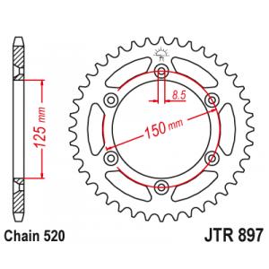 Řetězová rozeta JT JTR 897-47 47 zubů, 520