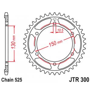 Řetězová rozeta JT JTR 300-47 47 zubů, 525