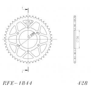 Řetězová rozeta SUPERSPROX RFE-1844:48-BLK černý 48 zubů, 428