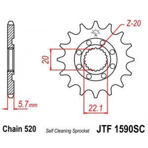 Řetězové kolečko JT JTF 1590-13SC 13 zubů, 520 Self Cleaning Lightweight