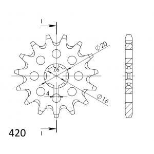 Řetězové kolečko SUPERSPROX CST-546:13 13 zubů, 420