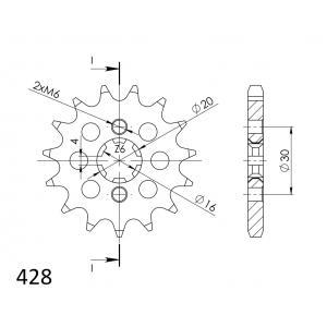 Řetězové kolečko SUPERSPROX CST-417:14 14 zubů, 428