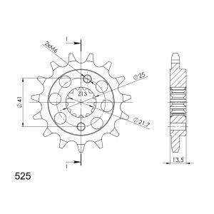 Řetězové kolečko SUPERSPROX CST-296:15 15 zubů, 525
