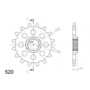 Řetězové kolečko SUPERSPROX CST-402:16 16 zubů, 520