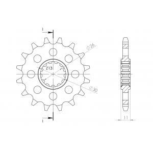Řetězové kolečko SUPERSPROX CST-1591:16 16 zubů, 525