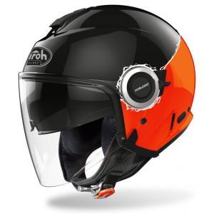 Otevřená přilba Airoh Helios Fluo černo-oranžová