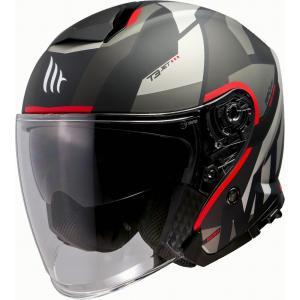 Otevřená přilba na motorku MT Thunder 3 SV Bow černo-šedo-červená