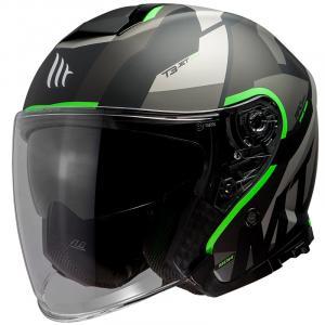 Otevřená přilba na motorku MT Thunder 3 SV Bow černo-šedo-fluo zelená