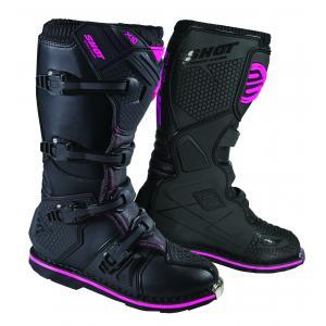 Boty na motorku Shot X10 2.0 černo-růžové