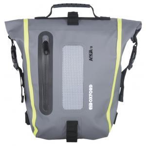 Brašna na sedlo spolujezdce Oxford Aqua T8 Tail bag černo-šedo-fluo žlutá