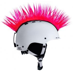 Číro na helmu Mohawk růžové
