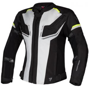 Dámská bunda na motorku Rebelhorn Blast šedo-černo-fluo žlutá výprodej