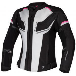 Dámská bunda na motorku Rebelhorn Blast šedo-černo-růžová výprodej