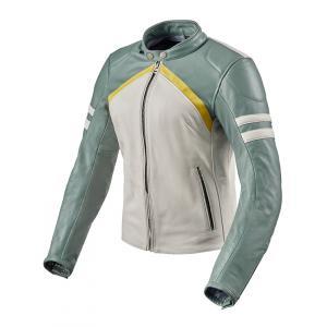 Dámská bunda na motorku Revit Meridian bílo-zelená výprodej