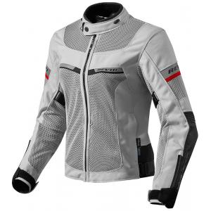 Dámská bunda na motorku Revit Tornado 2 stříbrno černá výprodej