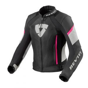 Dámská bunda na motorku Revit Xena 3 černo-růžová