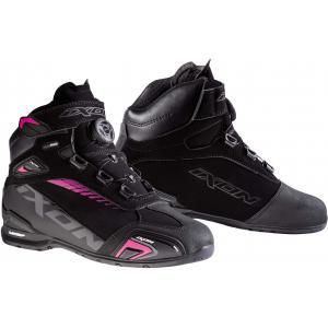 Dámské boty na motorku IXON Bull WP černo-růžové - II. jakost