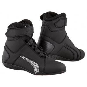 Dámské boty na motorku Kore Velcro 2.0 černo-bílé