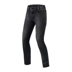 Dámské jeansy na motorku Revit Victoria šedé zkrácené výprodej
