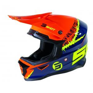 Dětská motokrosová přilba Shot Furious Storm oranžovo-žluto-modrá výprodej