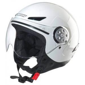 Dětská přilba na motorku otevřená NOX N216 bílá - II. jakost