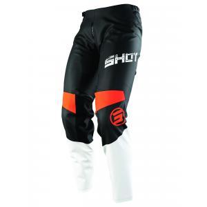 Dětské motokrosové kalhoty Shot Devo Slam černo-bílo-oranžové výprodej