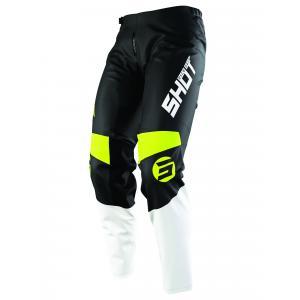 Dětské motokrosové kalhoty Shot Devo Storm černo-bílo-fluo žluté výprodej